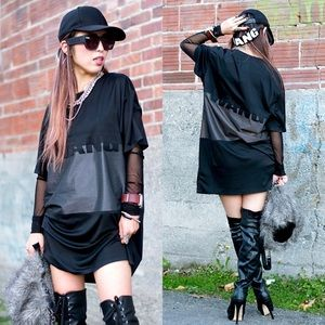 Alexander Wang x H&M Black T-Shirt Jersey Dress